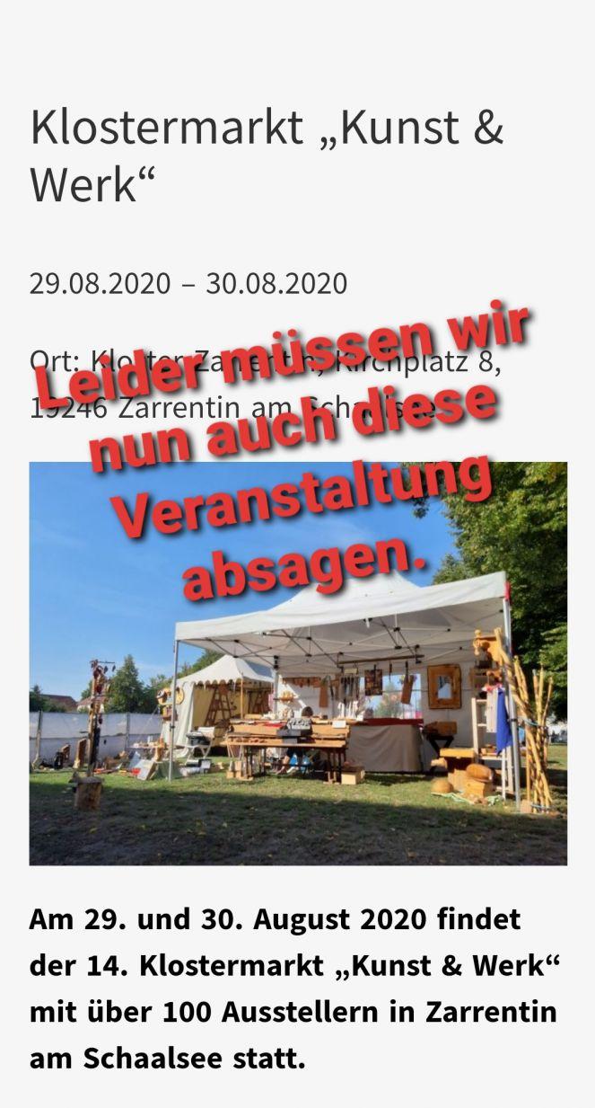 Klostermarkt Zarrentin 2021